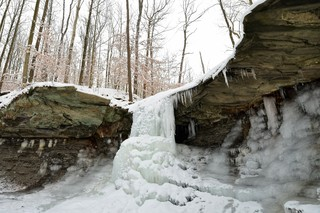 PHOTOS: Stunning frozen waterfalls across NEO