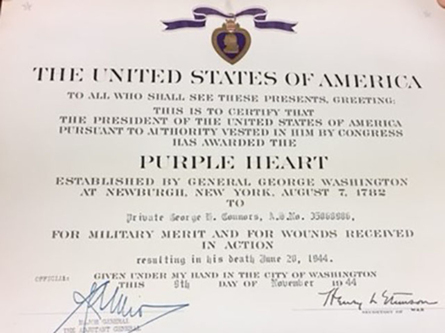 Enchanting purple heart citation template pictures for Purple heart citation template