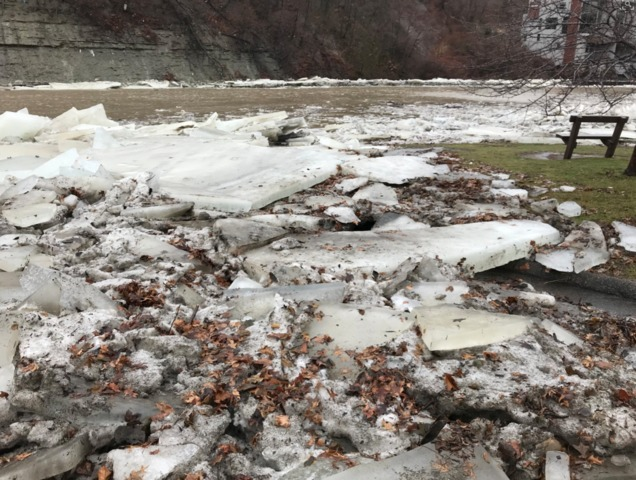 Ice Jam flooding continues along Housatonic River in Kent, Connecticut