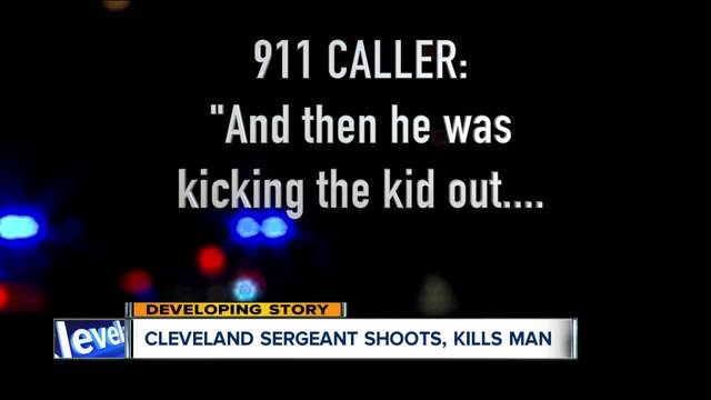 911 call- Cleveland police sergeant working off-duty shoots- kills man…