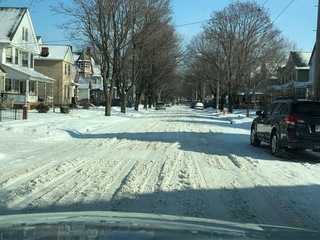 Residents plow streets Cleveland trucks miss
