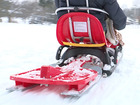 Police and fire help man sled for the first time