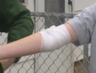 Boy bit by dog while walking home from school