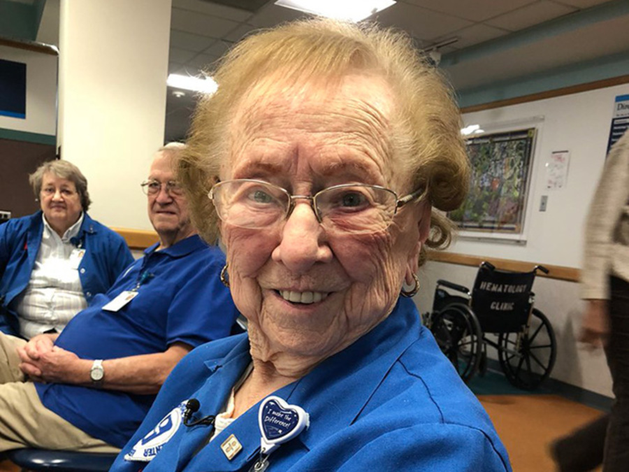 101-year-old volunteer at Akron Children's Hospital has no plans to slow down