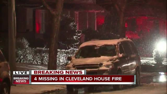 2 children, 2 adults missing after fire guts Cleveland home