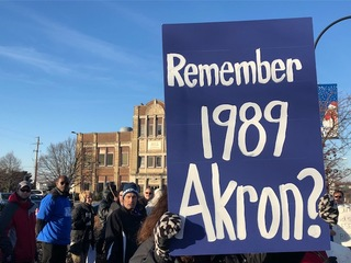 PHOTOS: Akron teachers rally after assaults