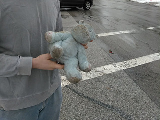 Stuffed hippo reunited with its owner