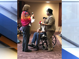 10 veterans, wives renew vows on Valentine's Day