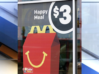 McDonald's moves cheeseburgers off Happy Meal