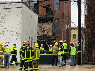 Partial building collapse in Medina Square