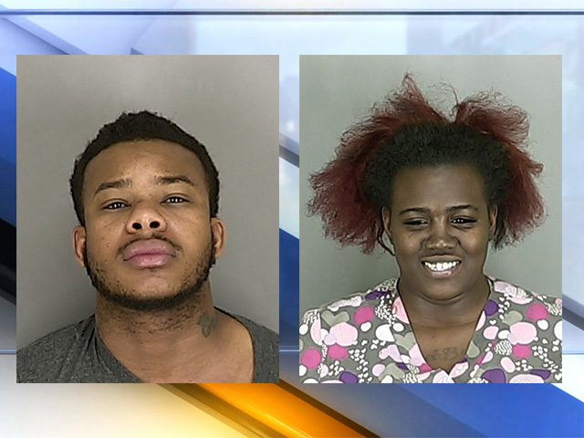 Akron couple attacks man with chainsaw