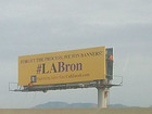 L.A. billboards try to bring #LABron to Lakers
