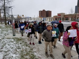 Students walked out in protest, into detention