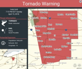 TORNADO WARNING: Stark, Summit, Portage counties