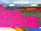 Summer-like weather prompts Red Flag Warnings