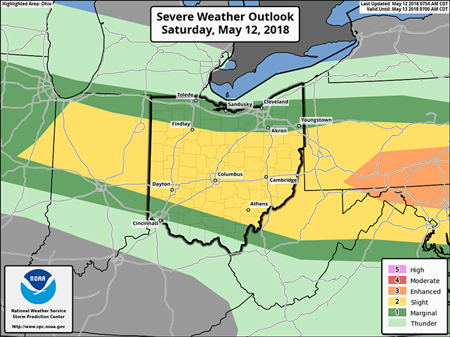 Strong to severe storms are possible this eveing