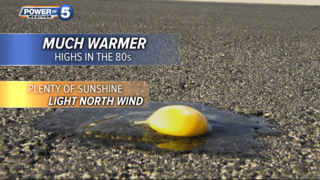 WEATHER: Plan for a warm stretch of days