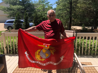 Marine veteran with cancer donates corps flag