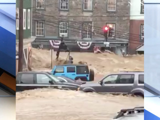 Flash flooding hits Maryland community