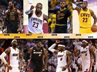 PHOTOS: LeBron over the past 8 NBA Finals