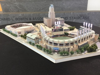 Amazing miniature model of CLE's sport stadiums