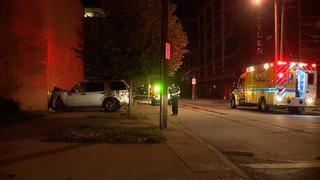 Car crashes into Cleveland church