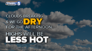 WEATHER: Less heat & less humidity today