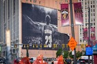 The LeBron banner comes down