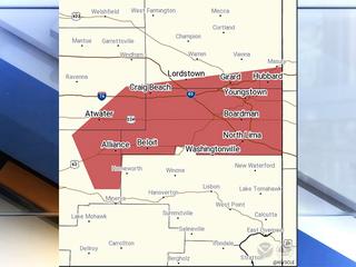 Severe Thunderstorm Warning across NE Ohio