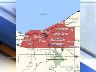 Severe Thunderstorm Warning across Northeast OH