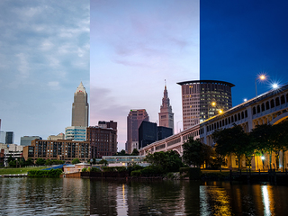 TIME-LAPSE: A view of Cleveland from the Flats