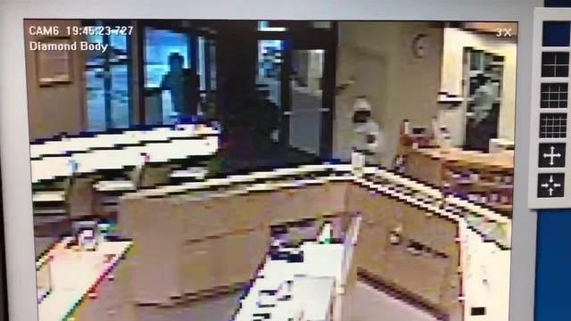 RAW- Surveillance video of jewelry store smash-and-grab in Copley