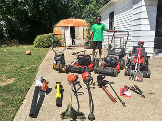 Lawn-mowing kid from viral video has big plans