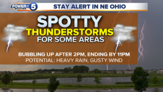 WEATHER: Warm & humid today, a few storms likely
