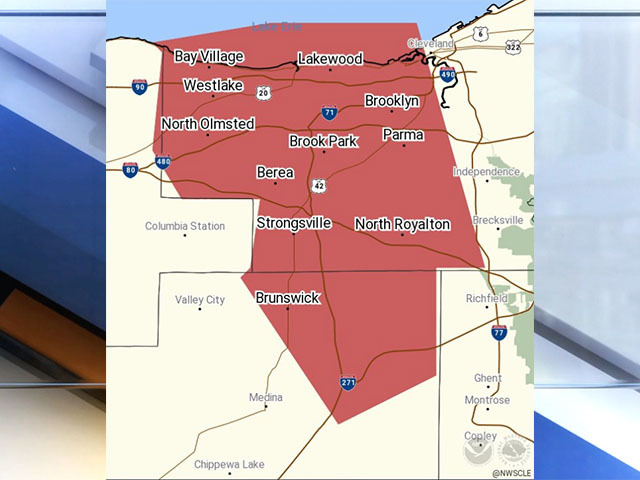 Severe Thunderstorm Warning For Cuyahoga Medina Counties News 5