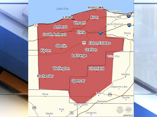 Severe Thunderstorm Warning For Lorain And Medina Counties News 5