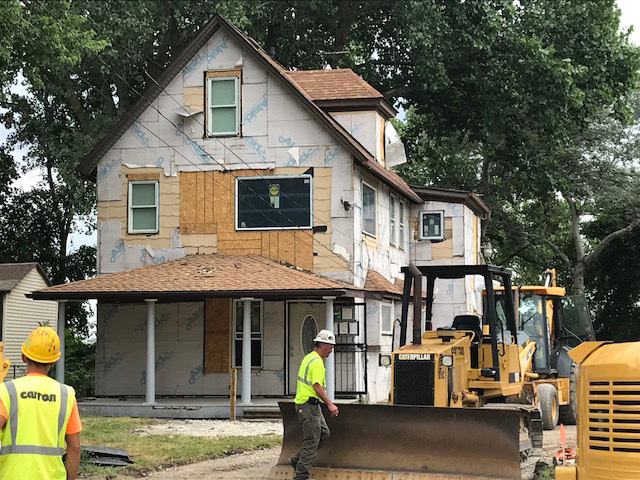 the bumpus house located at 3153 w 11th street in tremont is under construction
