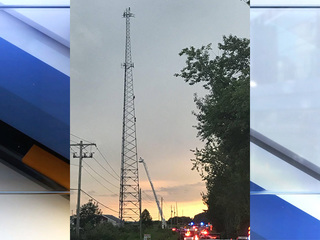 Woman climbs 285-foot cellular tower in Wayne Co