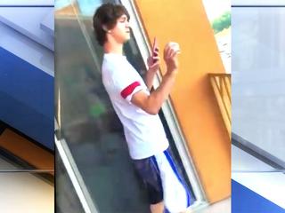 Man throws egg at deputy cruiser, tweets it