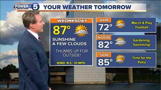 WEATHER: Clearing tonight, dry on Wednesday