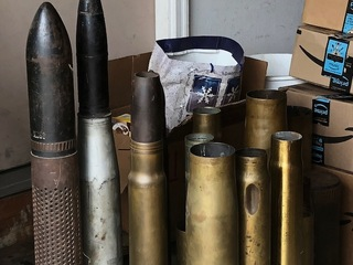 Bomb squads inspect artillery shells in Lake Co.
