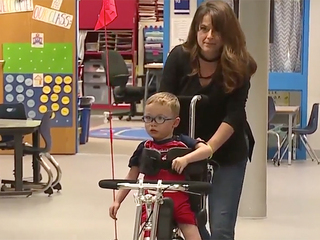 Boy with special needs gets a new gift