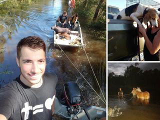 Canton duo volunteer to rescue animals in NC