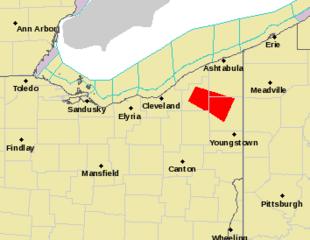 Tornado warning for Trumbull, Geauga, Ashtabula
