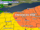 Threat of severe weather across northern Ohio