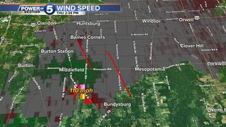 NWS: 2 tornadoes touched down near Middlefield