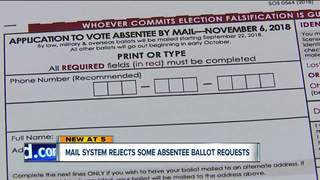 Requests for absentee ballots rejected