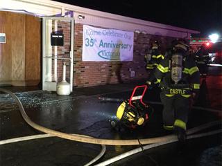 Victoria's Restaurant in Parma catches fire