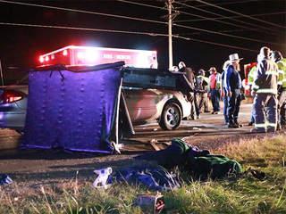 7 hospitalized after car crashes into buggy