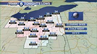 WEATHER: A Cold Night & a Chilly Monday